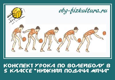 Конспект-урока-по-волейболу-в-5-классе-Нижняя-подача-мяча