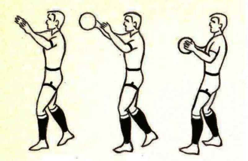 Ловля мяча в баскетболе.