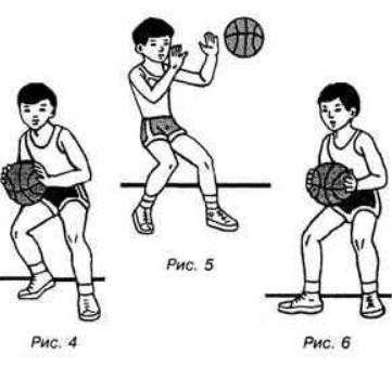передачи мяча в баскетболе