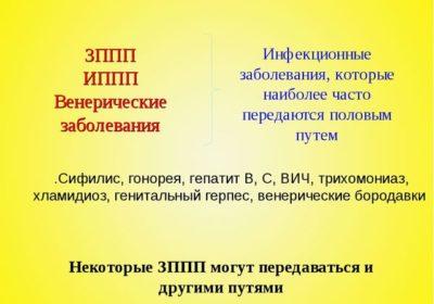 ЗППП ИППП Венерические заболевания Инфекционные заболевания