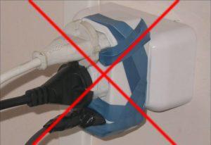 Безопасное подключение электроприборов к розетке